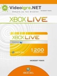 Xbox Live točke 1200 Microsoft points Xbox 360_265