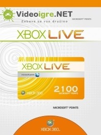 Xbox Live točke 2100 Microsoft points Xbox 360_265