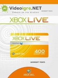 Xbox Live točke 400 Microsoft points Xbox 360_265