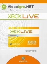 Xbox Live točke 800 Microsoft points Xbox 360_265