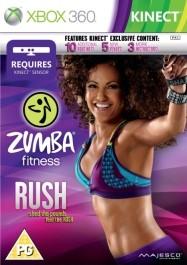 Zumba fitness RUSH Xbox 360 kinect_front_265